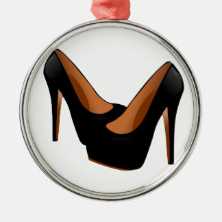 Black High Heels Christmas Ornament