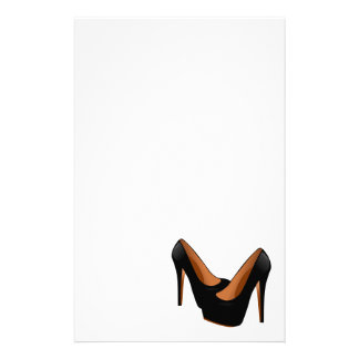 Black High Heels Personalized Stationery