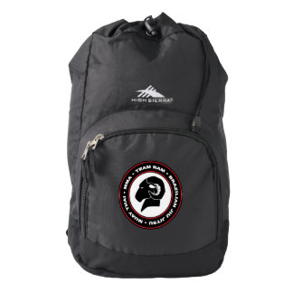 Black High Sierra RAM Backpack, Black and Red Logo Backpack