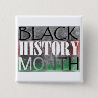 Black History Month (African Flag) 15 Cm Square Badge