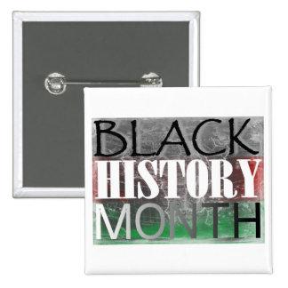 Black History Month (African Flag) 15 Cm Square Badge
