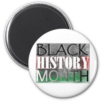 Black History Month (African Flag) 6 Cm Round Magnet