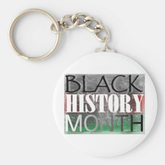 Black History Month (African Flag) Basic Round Button Key Ring