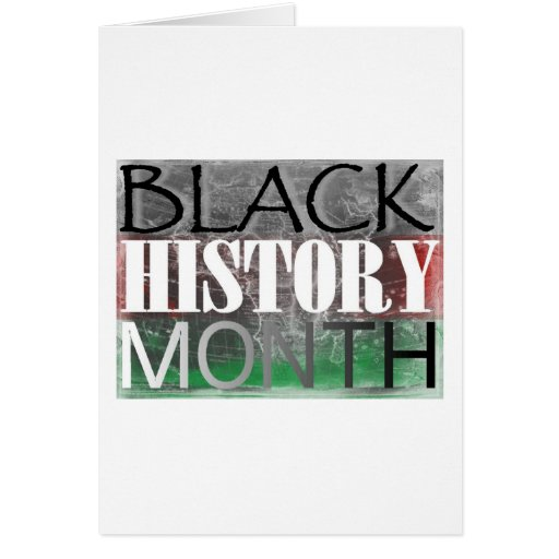 Black History Month (African Flag) Greeting Card