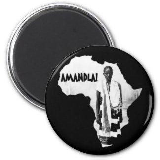 Black History Month - AMANDLA! 6 Cm Round Magnet