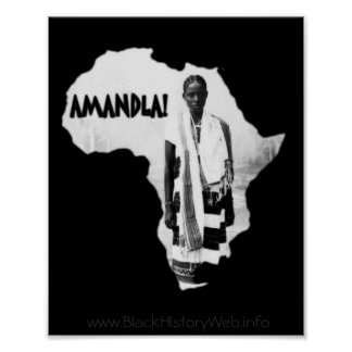 Black History Month - AMANDLA! Poster