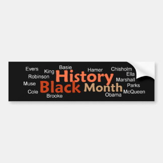 BLACK HISTORY MONTH Bumper Sticker