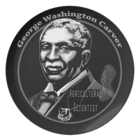 Black History Plates-George Washington Carver Plate