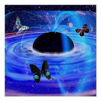Black Hole Butterflies Posters