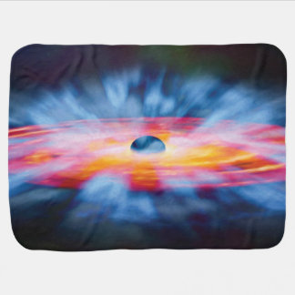 Black Hole Outflows - Colorful Artist Concept Baby Blanket