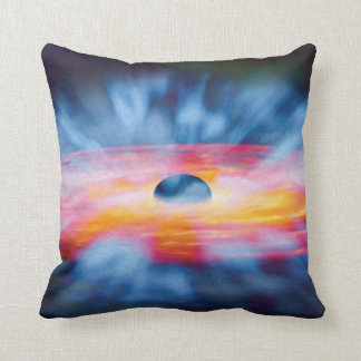 Black Hole Outflows - Colorful Artist Concept Cushion