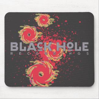 "Black Hole Recordings ""Fire"" Mousepad Black"