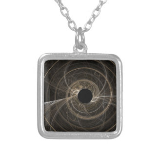 Black Hole Silver Plated Necklace