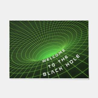 black hole space astronauts welcome door mat