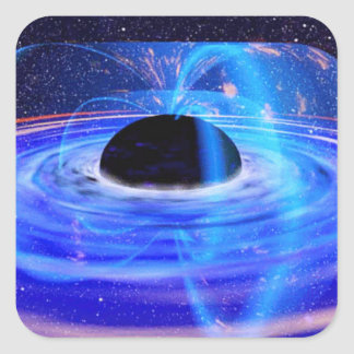 Black Hole Square Sticker