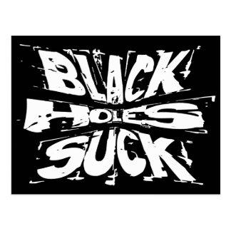 Black Holes Suck Postcard