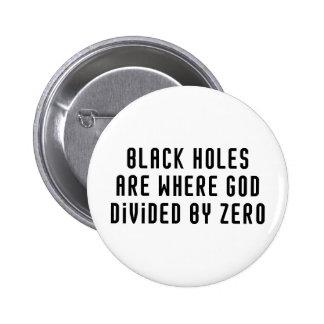Black Holes Zero 6 Cm Round Badge