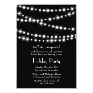 Black Holiday Twinkle Lights Invitation (corp)