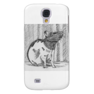 Black Hooded Fancy Rat Samsung Galaxy S4 Cases