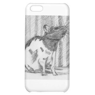 Black Hooded Fancy Rat Case For iPhone 5C