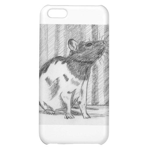 Black Hooded Fancy Rat Case For iPhone 5C
