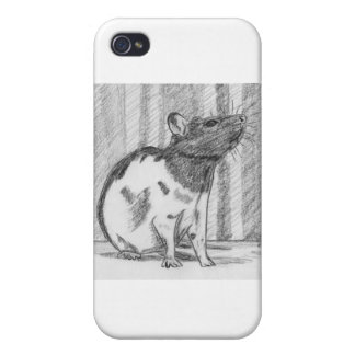 Black Hooded Fancy Rat iPhone 4/4S Cases