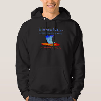 Black hoodie, Minnesota Parkour Hoodie
