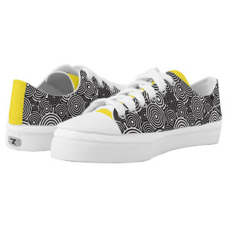 Black hoops Shoes Printed Shoes