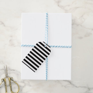 Black Horizontal Stripes Gift Tags