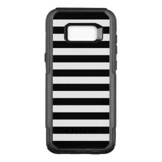 Black Horizontal Stripes OtterBox Commuter Samsung Galaxy S8+ Case