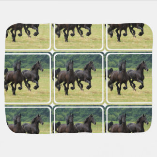 Black Horse Baby Blanket