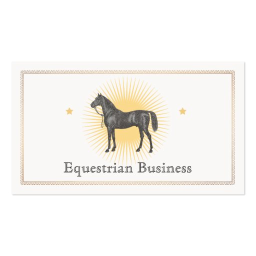 Create your own fitter business cards black horse business card reheart Gallery