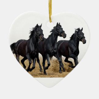 Black horse christmas ornament