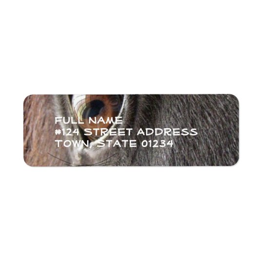 Black Horse Eye Return Address Label