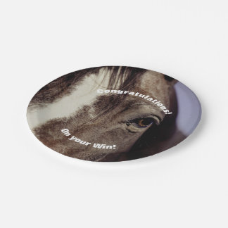 Black Horse Face with Eye Paper Plate