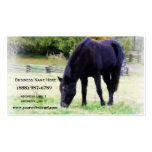Black Horse Grazing Business Card Template