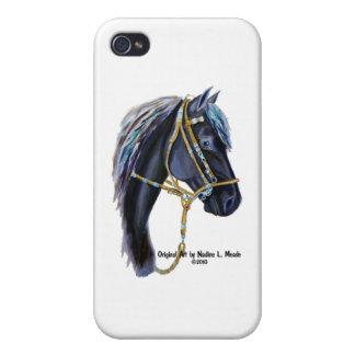 Black Horse Head iPhone 4 Cases
