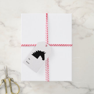 Black Horse Head Silhouette Elegant Gift Tags