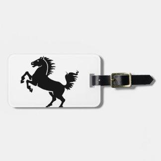 Black Horse Luggage Tag