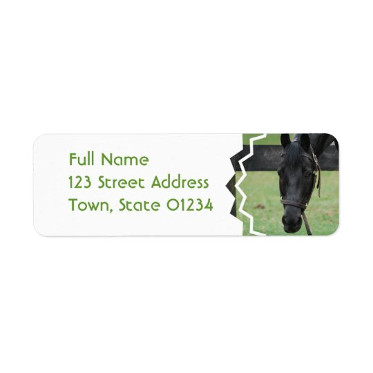 Black Horse Mailing Labels