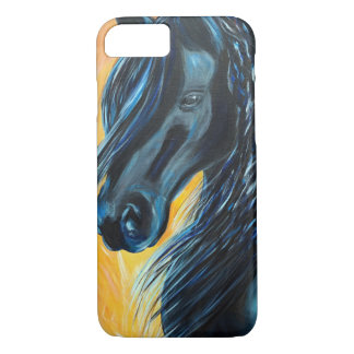 Black Horse Painting iPhone 8/7 Case