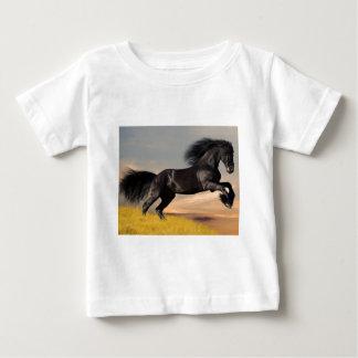 black_horse_running.jpg baby T-Shirt