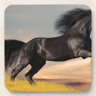 black_horse_running jpg beverage coaster