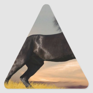 black_horse_running.jpg triangle sticker