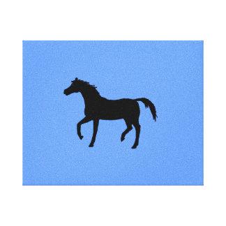 Black Horse Silhouette Canvas Print
