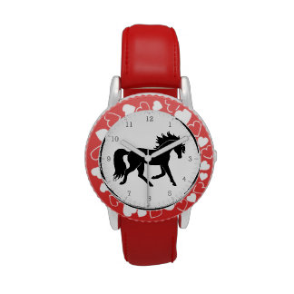 Black Horse Silhouette Wrist Watch