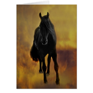 Black Horse Silhouette Greeting Card