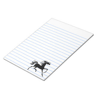 Black Horse Silhouette Notepad