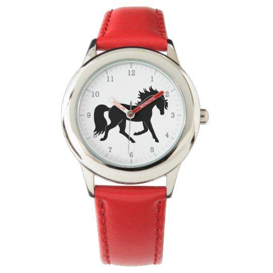 Black Horse Silhouette Wrist Watches