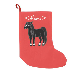 Black Horse Small Christmas Stocking